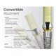Covertible abutment